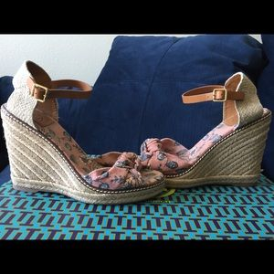Pre-owned Great (Condition) Olea Tory Burch Wedges